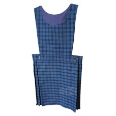 Pinafore, Pleated, Blue Check
