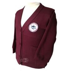 School Cardigan with Logo