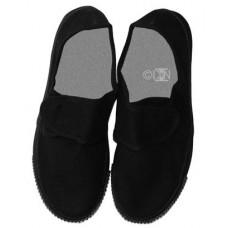 Black Unisex Velcro Plimsolls