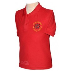 School Red Polo Shirt with Logo