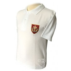 School white Polo Shirt with Logo