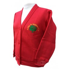 School Cardigan with Logo
