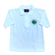 School White Polo Shirt with Logo